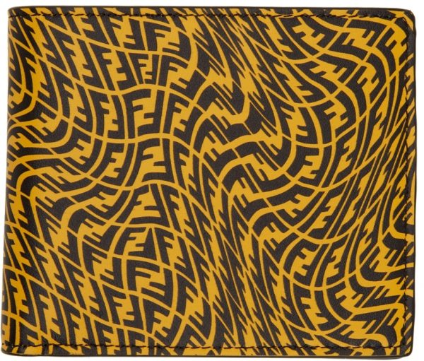 Fendi Yellow FF Vertigo Bifold Wallet