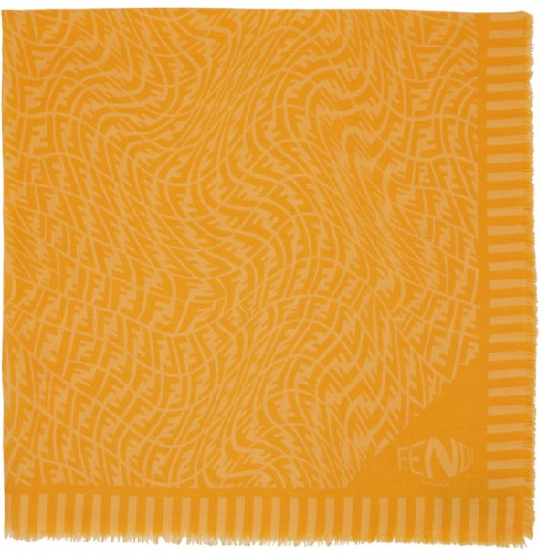 Fendi Yellow & Orange FF Vertigo Scarf