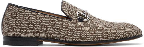 Gucci Beige G Horsebit Loafers