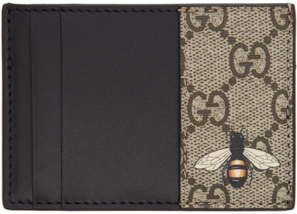 Gucci Beige GG Bee Card Holder