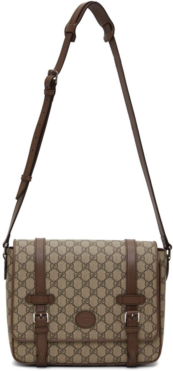 Gucci Beige GG Supreme Messenger Bag