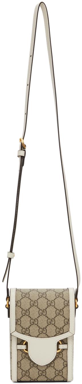 Gucci Beige 'Gucci 1955' Horsebit Mini Bag