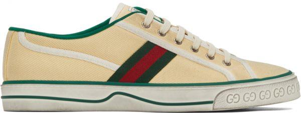 Gucci Beige 'Gucci Tennis 1977' Sneakers