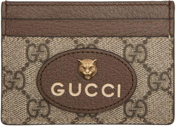 Gucci Beige Neo Vintage GG Card Holder