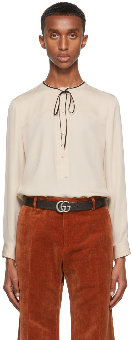 Gucci Beige Silk Crêpe Shirt