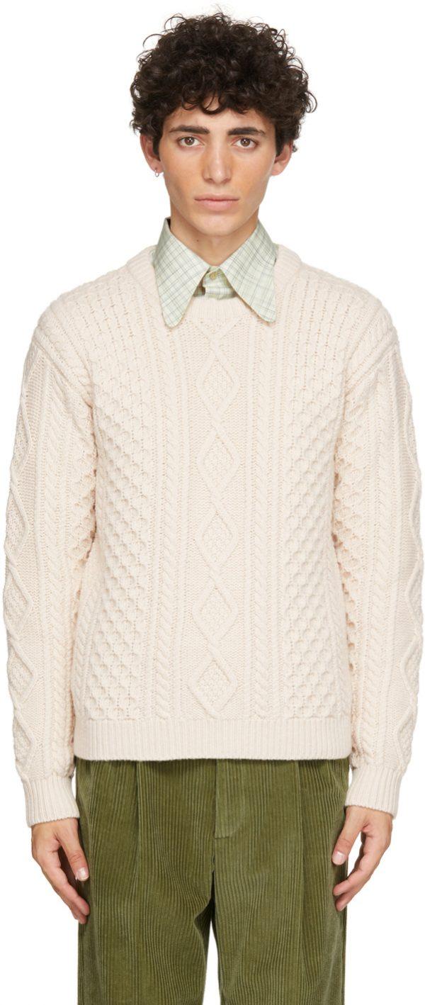 Gucci Beige Wool Knit Sweater
