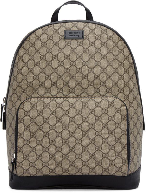 Gucci Beige & Black GG Eden Backpack