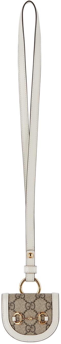 Gucci Beige & White Horsebit 'Gucci 1955' AirPods Pro Case