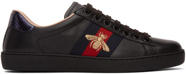 Gucci Black Bee Ace Sneakers