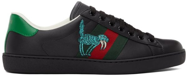 Gucci Black Freya Hartas Ace Sneakers