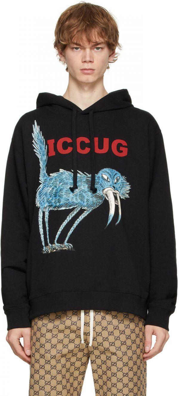 Gucci Black Freya Hartas Edition 'ICCUG' Hoodie
