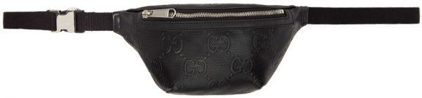 Gucci Black GG Embossed Belt Bag