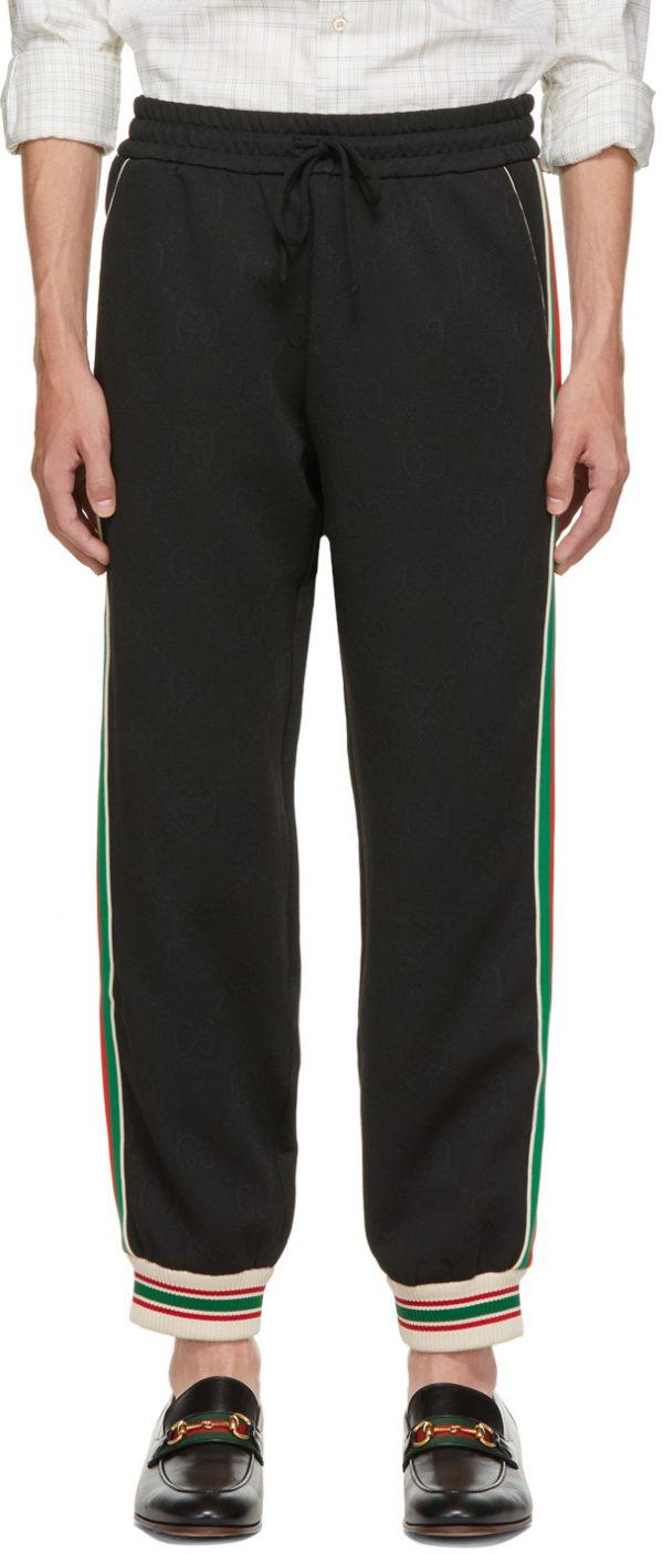 Gucci Black GG Jacquard Lounge Pants