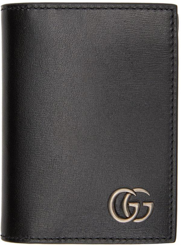 Gucci Black GG Marmont Bifold Card Holder
