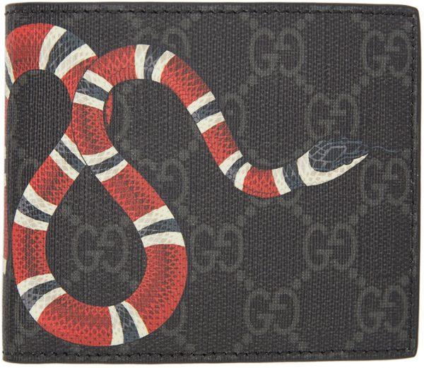 Gucci Black GG Snake Wallet