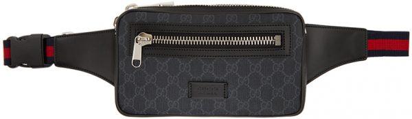 Gucci Black GG Supreme Belt Bag