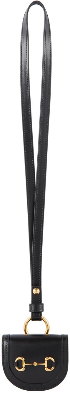 Gucci Black 'Gucci 1955' Horsebit AirPods Case