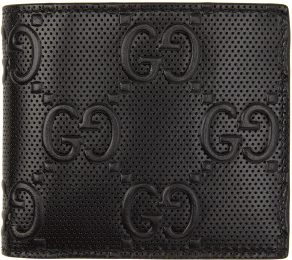 Gucci Black 'Gucci Signature' Coin Wallet