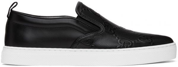 Gucci Black 'Gucci Signature' Dublin Sneakers