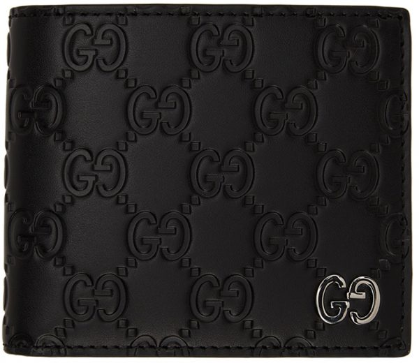 Gucci Black 'Gucci Signature' GG Embossed Wallet