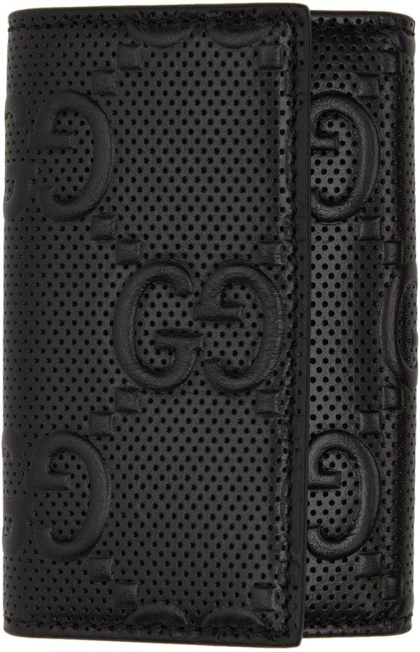 Gucci Black 'Gucci Signature' Key Wallet