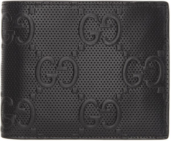 Gucci Black 'Gucci Signature' Tennis Bifold Wallet