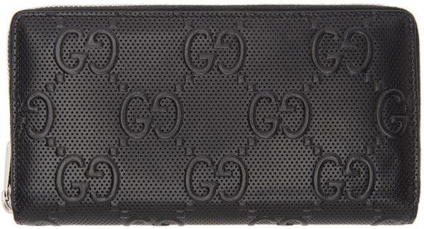 Gucci Black 'Gucci Signature' Tennis Wallet