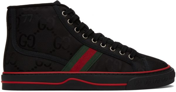Gucci Black 'Gucci Tennis 1977' Off The Grid High-Top Sneakers