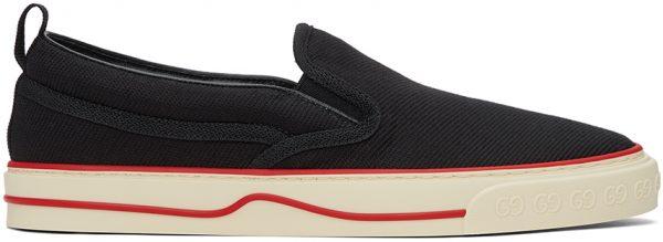 Gucci Black 'Gucci Tennis 1977' Slip-On Sneakers