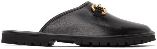 Gucci Black Horsebit Slip-On Loafers