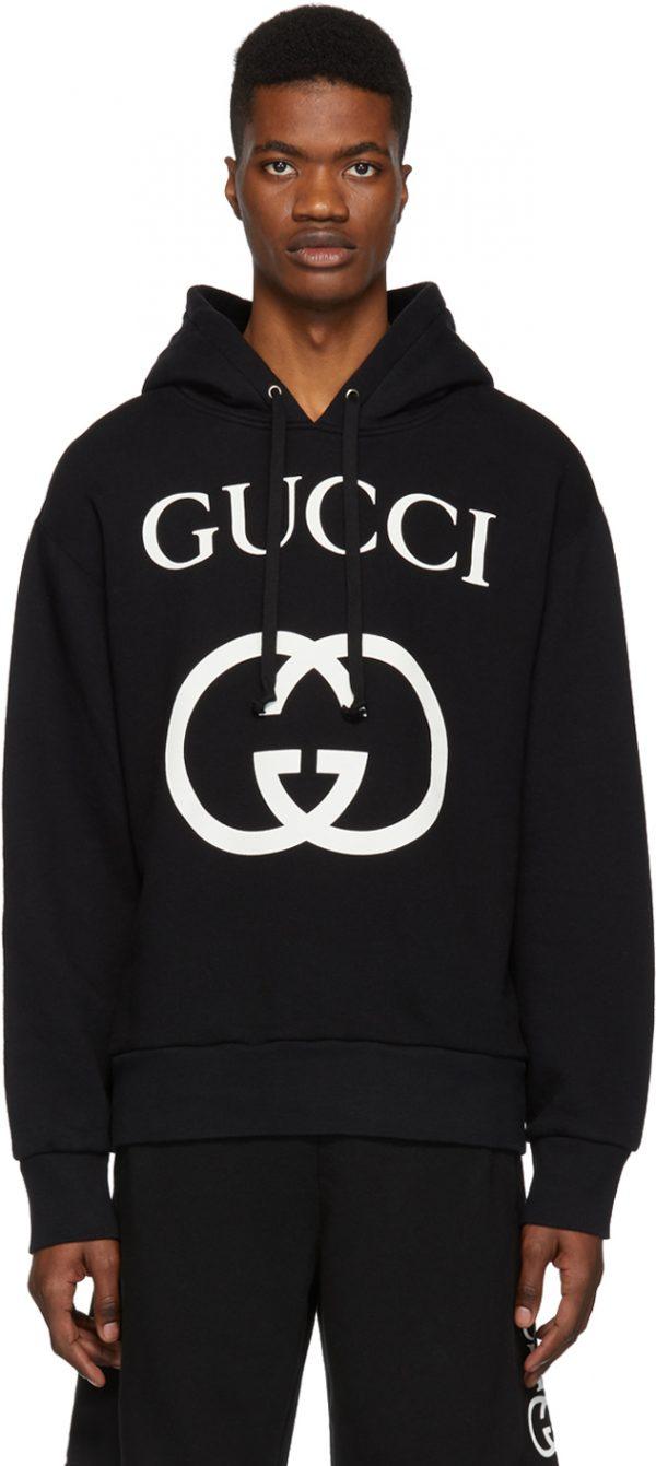 Gucci Black Interlocking G Hoodie