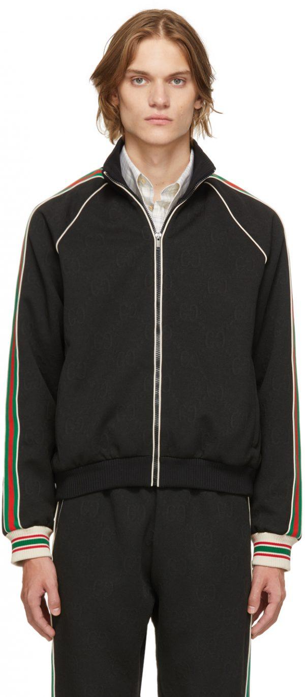Gucci Black Jacquard GG Jacket
