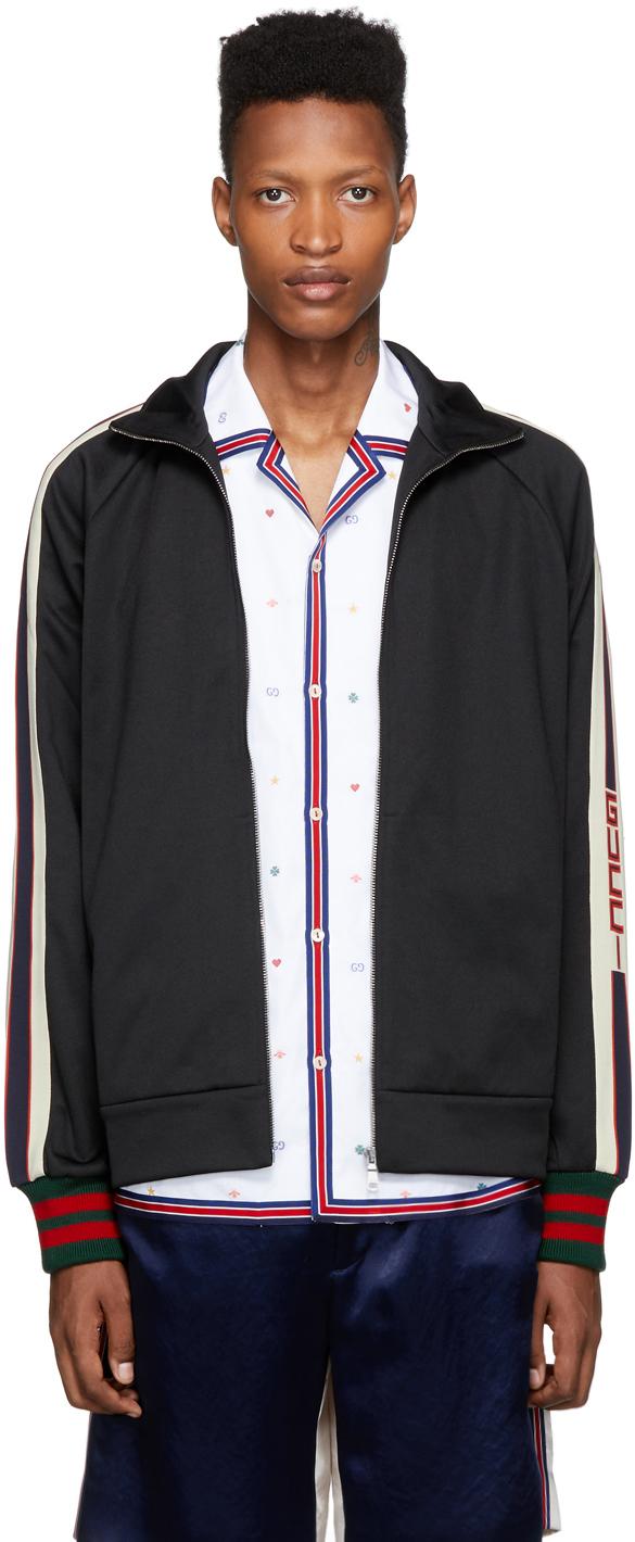 Gucci Black Jersey Logo Track Jacket