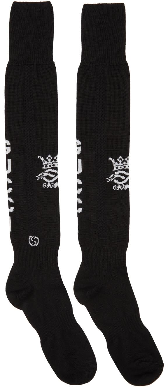 Gucci Black Knit Logo Sport Socks
