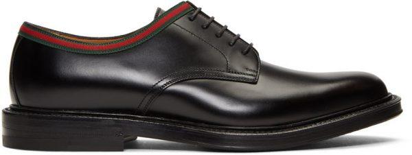 Gucci Black Leather Derbys