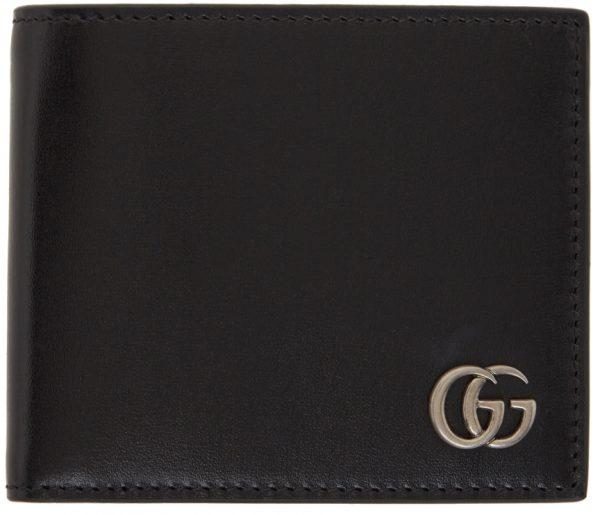 Gucci Black 'Marmont' Bifold Wallet