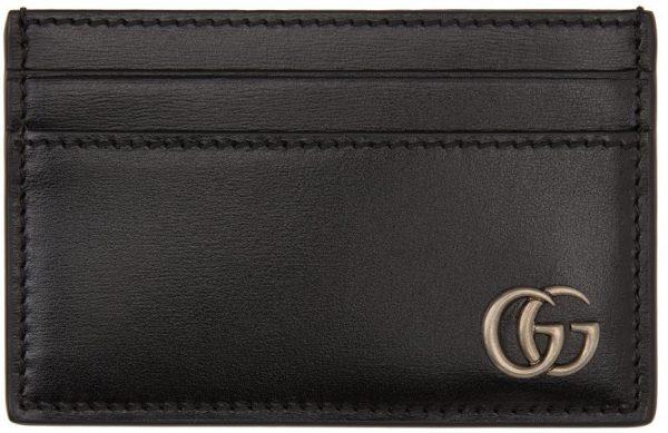 Gucci Black 'Marmont' Card Holder
