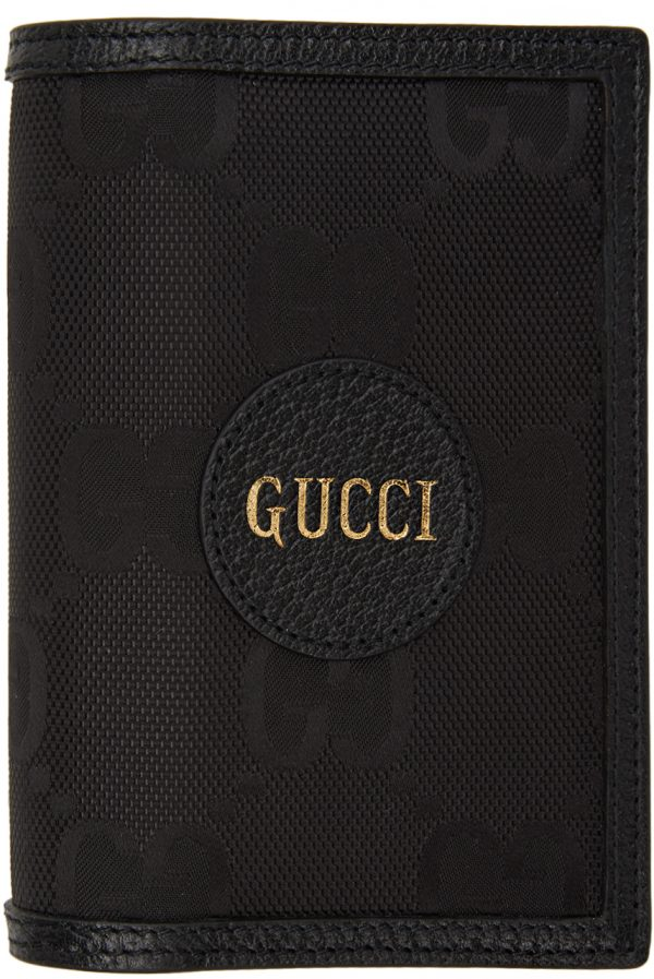Gucci Black Off The Grid GG Eco Passport Holder