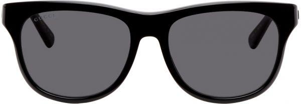 Gucci Black Shiny Sunglasses