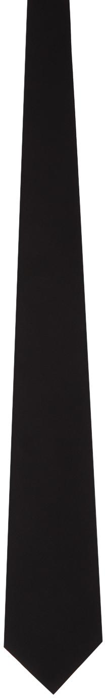 Gucci Black Silk Crepe Tie