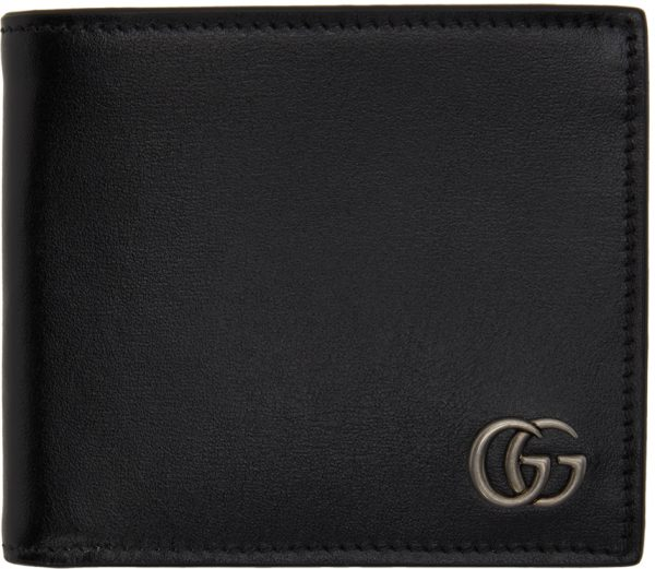 Gucci Black Square GG Marmont Bifold Wallet