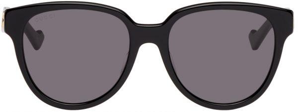 Gucci Black Square Interlocking G Sunglasses