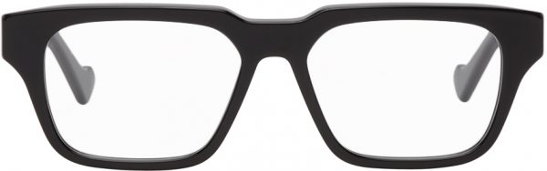 Gucci Black Square Shiny Glasses