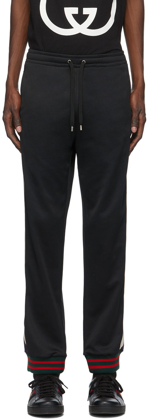 Gucci Black Technical Jersey Lounge Pants