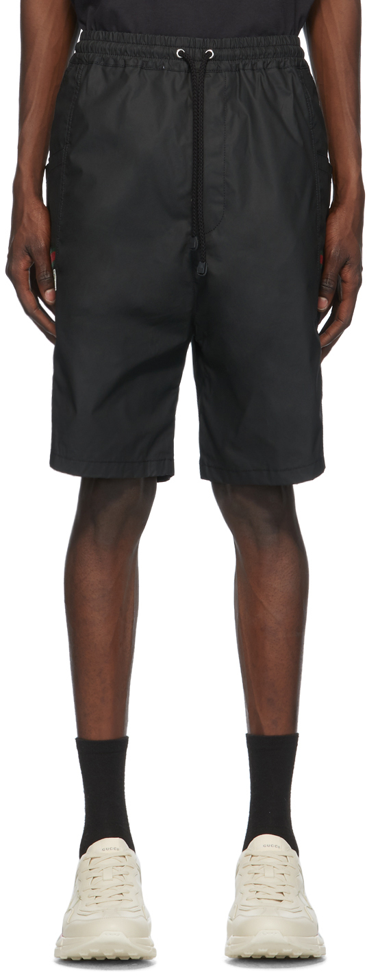 Gucci Black Waterproof Cargo Shorts