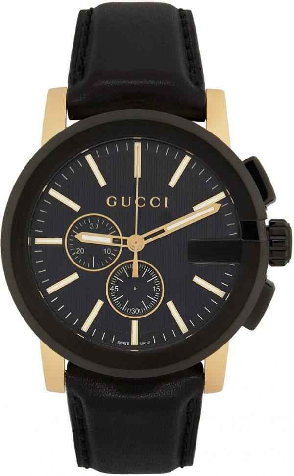 Gucci Black & Gold G-Chrono Watch