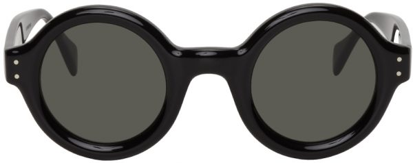 Gucci Black & Grey Round Sunglasses