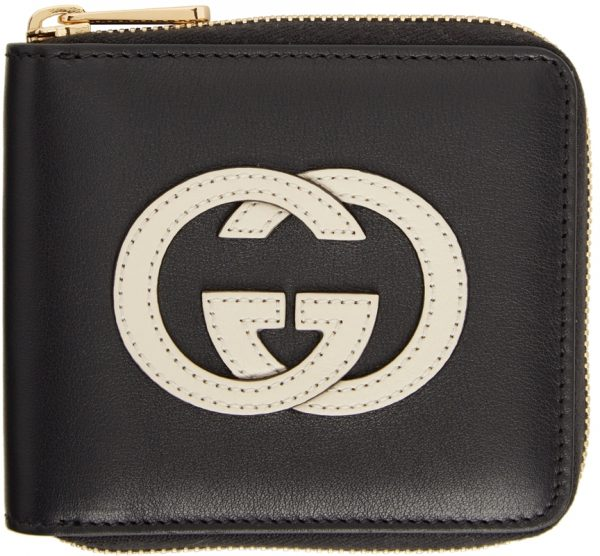 Gucci Black & Off-White GG Coin Wallet