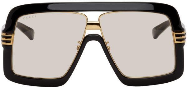 Gucci Black & Yellow Square Sunglasses