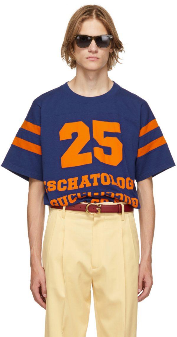 Gucci Blue '25 Gucci Eschatology & Blind For Love 1921' T-Shirt